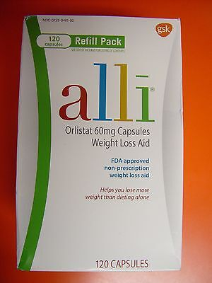 Alli Weight Loss Refill Pack 120 Capsules,Original Package,EXP 12/17 NEW