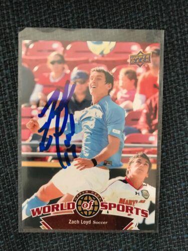 FC Dallas Zach Loyd Autographed Signed 2010 Upper Deck World of Sports MLS Card