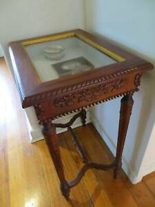 Ornate Mahogany Bijouterie Display Table