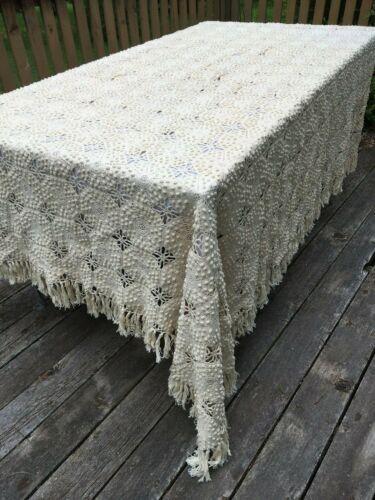 Vintage 1920s Crochet Popcorn Bedspread Coverlet Bed Cover