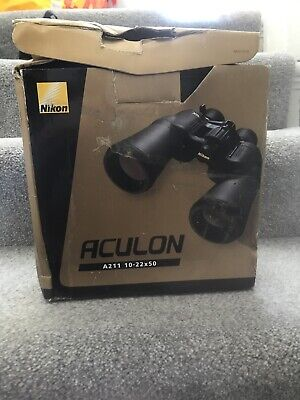 Nikon Aculon A211 10-22x50 Binoculars - Includes case, strap and instructions