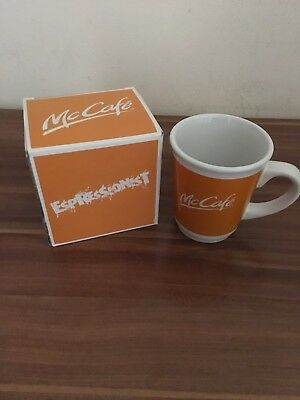 "Sammel-Tasse Mc Donald`s/ Mc Cafe ""Espressionist"" orange neu OVP"