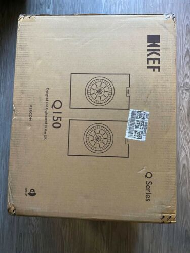 KEF Q150 HiFi Uni-Q Bookshelf Speakers Pair Brand New Sealed *BLACK*