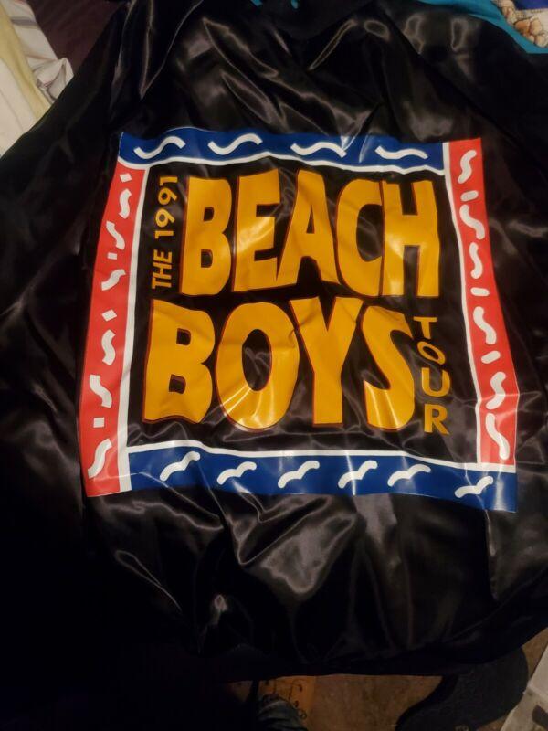 Vintage 90s Chalk Line 1991 Beach Boys Tour Satin Jacket  Mens Large Rock Band