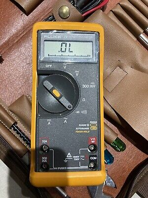 Fluke 77-2 Multimeter Plus Bag Of Electrician Tools Nos