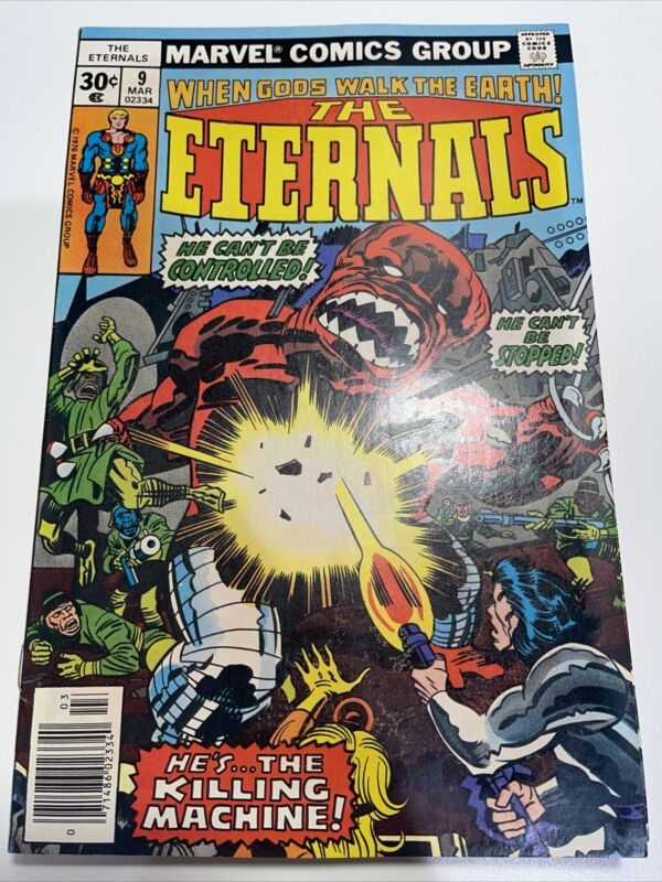 Eternals #9 Newstand 1st Sprite! Bronze Age Key Issue! Shipping Included!