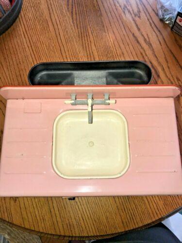Vintage 1950s Pink Wolverine Metal Toy Kitchen Sink
