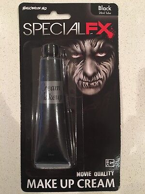 SPECIAL FX Movie Quality 28ml. BLACK Make-Up Cream 0013051689919 (Horror Movie Halloween Makeup)