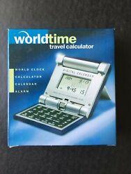 Collapsible World Time Travel Clock 16 Zones, Alarm, Calendar & Calculator