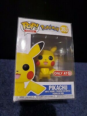 Funko Pop Pikachu Pokemon Games Target Exclusive with Pop Protector