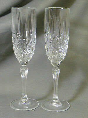 Marquis Stemware Flute (2 Waterford Crystal Stemware Marquis Champagne Flutes Glasses 9 3/4 inches)