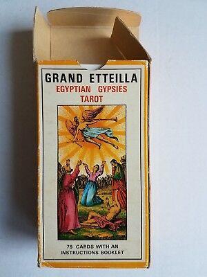 GRAND ETTEILLA EGYPTIAN GYPSIES TAROT, 1969, Grimaud, France. Vintage OOP