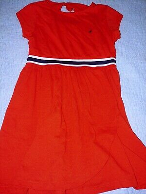 Nautica Girls Sz. 6 Orange Waistband Dress. Cute, Great Shape