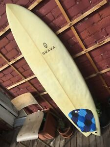 5'7 Guava thruster fish surfboard