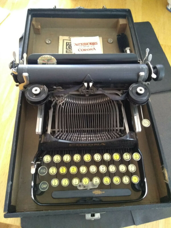 Corona 3 typewriter key, warranty card, parts list, instructions, tool.etc