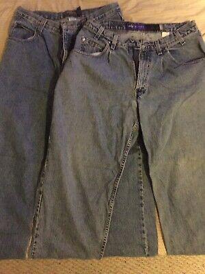 Men's Levi's Silver Tap Baggy 34/32 Quicksilver 33/32 Jeans Lot Of 2 Pair