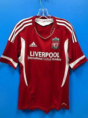 NEW Adidas Adult 100% Polyester Liverpool Soccer Jersey Color Red White Size -