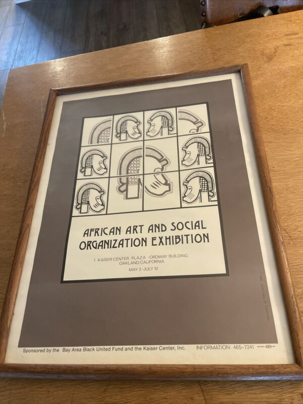1982 African Art and Social Organization Exhibition Poster Oakland Black History