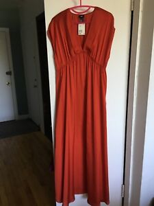 H&M long poly Red dress