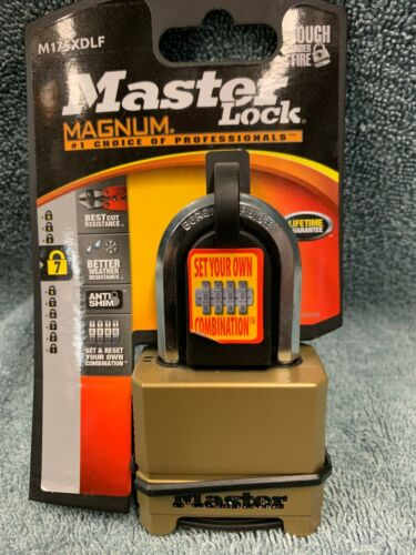 "Master Lock Magnum 2"" Resettable Combination Padlock with Key M175XDLF"