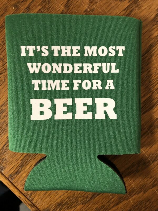It's The Most Wonderful Time Fora Beer funny Christmas Novelty Can Cooler Koozie