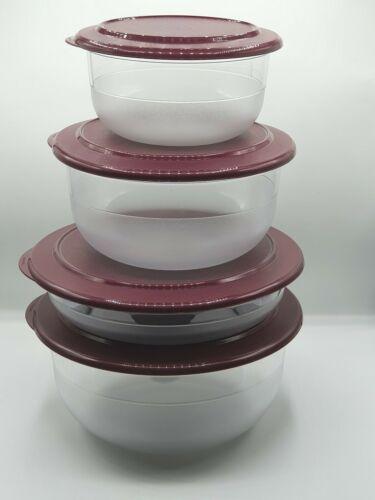 Deckel Set 2 Stück glasklar Tupperware Eleganzia Schalen neu Sonderfarbe rot