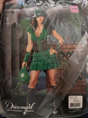 Robyn Hood Used Costume Size Medium Green