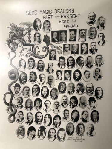 """""""SOME MAGIC DEALERS PAST AND PRESENT"""" 1946 T. C. WORTHINGTON LARGE PHOTOGRAPH"""