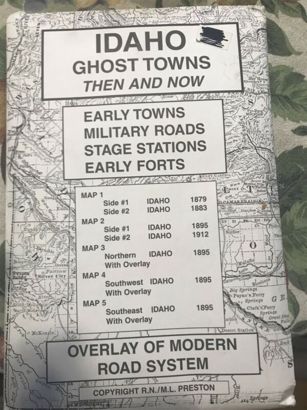 Idaho Ghost Town Map