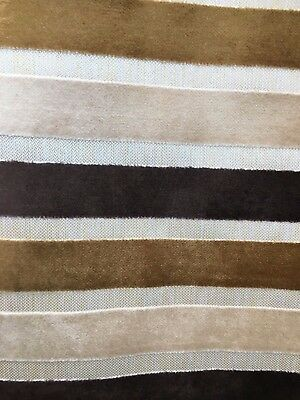 BROWN STRIPED CHENILLE UPHOLSTERY FABRIC (54 in.) Sold By The Yard Brown Chenille Upholstery Fabric