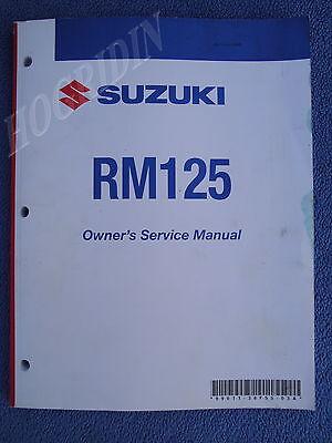 (GENUINE SUZUKI RM125 DIRT BIKE MOTORCYCLE OWNERS SERVICE MANUAL 99011-36F55-03A)