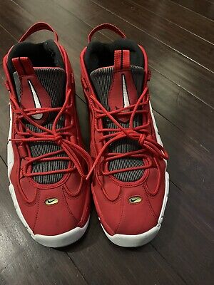 NIKE AIR MAX PENNY ONE 1 UNIVERSITY RED WHITE CHICAGO SZ 14  685153-600  X44(15 for sale  Shipping to Canada