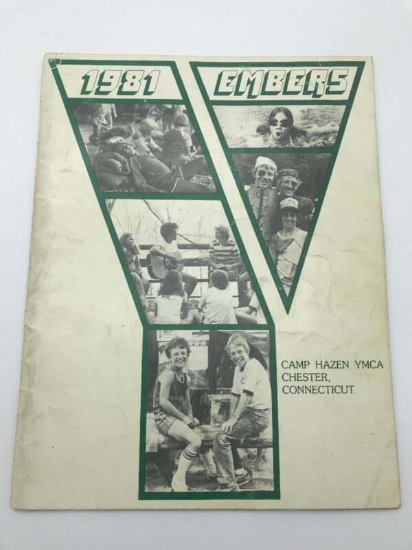 Camp Hazen YMCA Chester Connecticut 1981 Embers Yearbook Photographs Sleepaway
