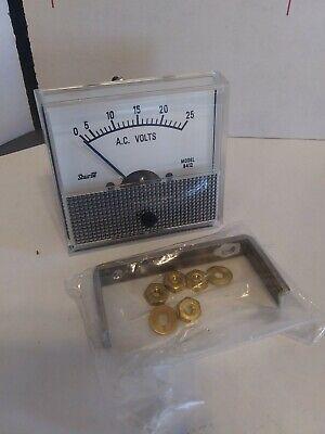 Shurite 8412z Ac Volts Panel Meter