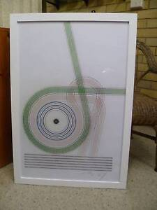 LARGE ABSTRACT  WALL ART, EXCELLENT USED  COND. New Lambton Heights Newcastle Area Preview