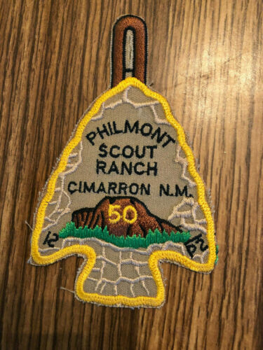 Vintage Philmont Scout Ranch 50th Anniversary Arrow Head Patch