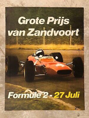 1960s / 1970s Formula 2 Dutch Grand Prix Event Poster RARE!! Awesome L@@K