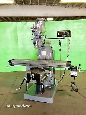 Bridgeport Series Ii Special Milling Machine W Power Feed And Dro Table 11 X 58