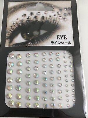 Acrylic Crystal Gems Bling Beads Eye Face Stickers Makeup Rhinestones Tattoo (Crystal Rhinestones Face Bling)