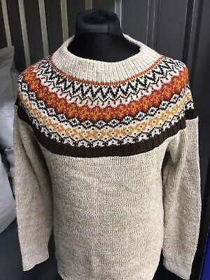 Women's Jumper Sweater Size Medium Vintage Sears Icelandic Fair Isle Style Knit