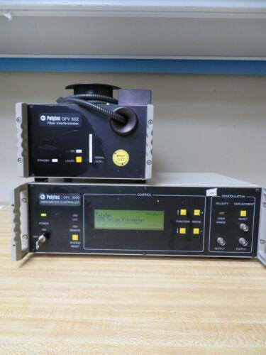 Polytec OFV 502 Fiber Interferometer w/ Polytec OFV 3000 Vibrometer Controller
