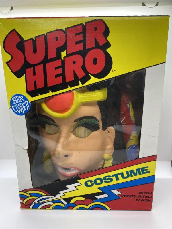 "Vintage Ben Cooper ISIS Superhero Costume Child Medium(8-10) Fits 47""-52"" Tallz5"