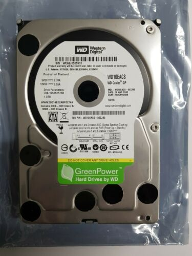 "Western Digital Caviar Green 1TB Internal 7200 RPM 3.5"" WD10EACS"