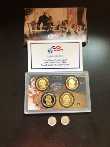 US COIN COLLECTION LOT Presidential Dollar Proof Set 4 Coins 90 Silver Coins - $10.00