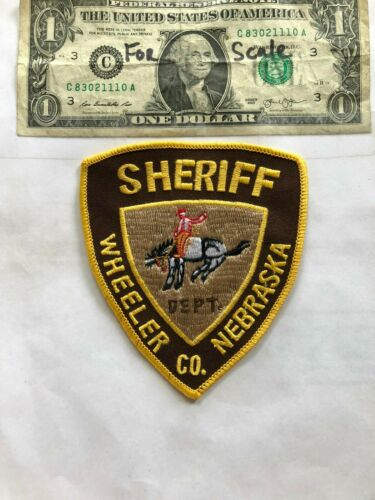 Wheeler County Nebraska Police Patch (Sheriff) Un-sewn in great shape