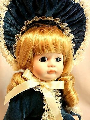 "Dynasty Collection QVC Vintage Victorian Sally 12"" Porcelain Bisque Doll MIB"