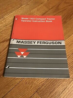 Genuine Original Massey Ferguson Mf 1523 Tractor Operators Operation Manual