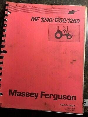 Massey Ferguson Mf 1240 1250 1260 Manual