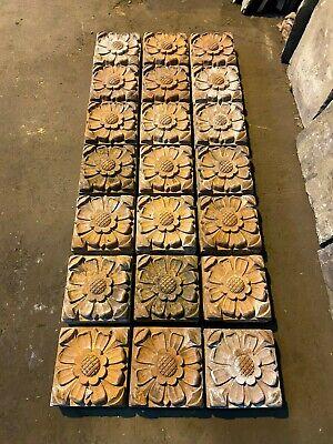 Set of 21 Floral Terracotta Victorian Bricks - WillMow