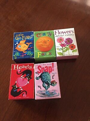 eeBoo Playing Card Library Volume II Hearts Snap Color Go Fish Crazy Flowers